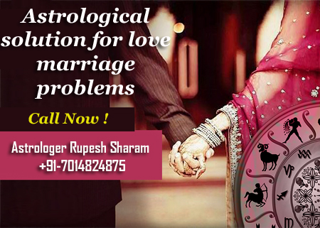 Astrological solution for love marriage problems