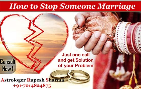 How to stop someone marriage
